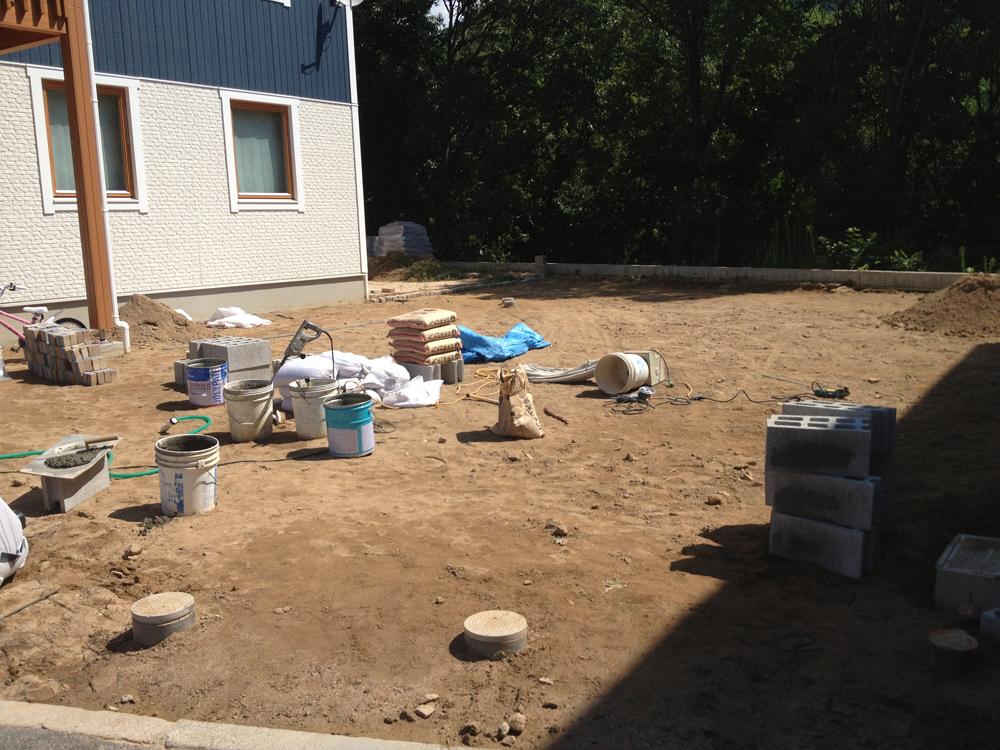 土が流れてマスが埋まった状態